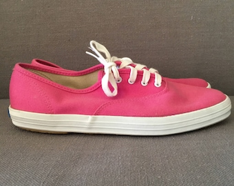 Free US Shipping | Never Worn Vintage  90s Bubble Gum Pink Keds Sneakers | US Women's 8.5