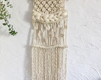 Modern macrame wall hanging, OOAK, weaving, home decor