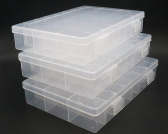 Plastic storage box, organiser box, 24 compartments box, Containers, doll eyes storage, bead box, jewelry, jewellery packaging, Earrings box