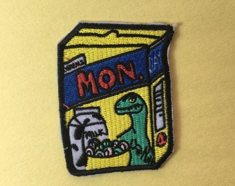 Cereal Box iron on patch