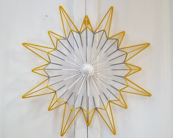 Metal Wall Art / Wrought Iron Wall Decor / Geometric Metal Wall Decor / Metal  Wall