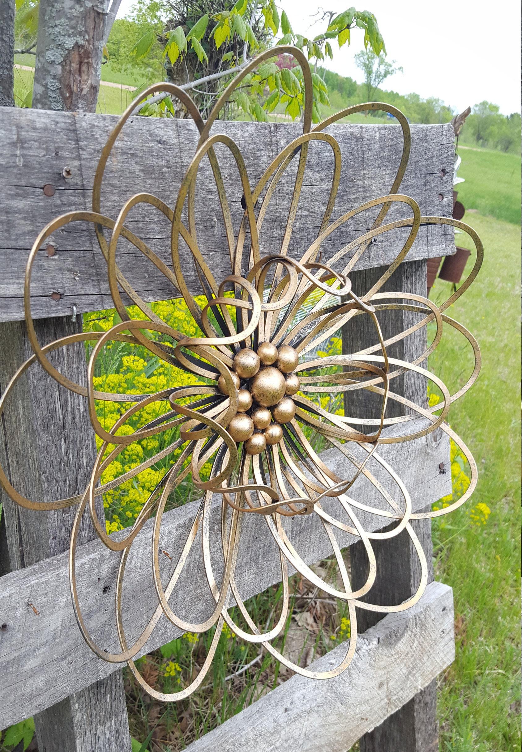 Large Metal Flower Wall Art Garden Flower wall decor Metal