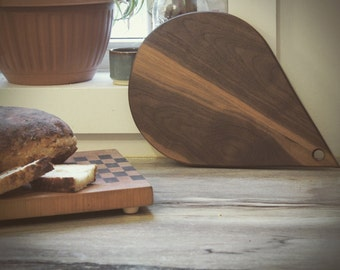 Walnut Teardrop Serving Board