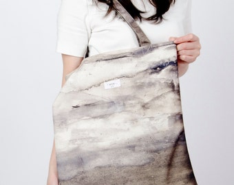 Rock cave High Quality Canvas tote bag