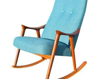Vintage Danish Modern Rocking Chair by Rastad & Relling for Møre Lenestolfabrikk