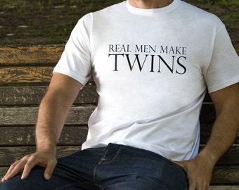 Twins Shirt New Dad Gift Real Men Make Twins Shirt Dad Shirt Gift for Dad Fathers Day Gift Father of Twins Shirt Real Men Shirt PA1031