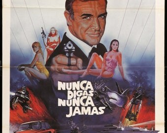 "Never Say Never Again (1983) Original Spanish Movie Poster - 28"" x 40"""