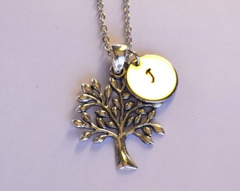 Tree Of Life Pendant with Initial