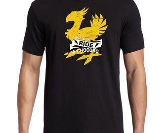 Save Gas Ride A Chocobo Final Fantasy XV Inspired Men's Comedy T-shirt