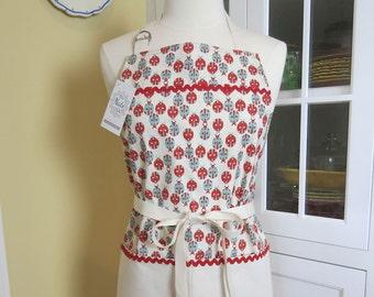 Ladybug Apron, USA Made Apron, Womens Apron, Chefs Apron, Cute Apron
