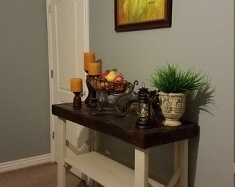 Beautiful Rustic Console Table, Rustic Sofa Table, Rustic Entryway Table, Narrow Wood  Table,