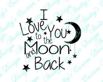 Love Wall Decal, Love Wall Art, Love Wall Stickers, I Love You To The Moon And Back Wall Art, Modern Wall Decals, Vinyl Wall Decals