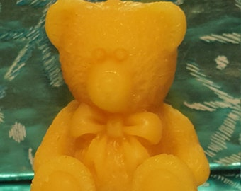 Beeswax Candle Bear