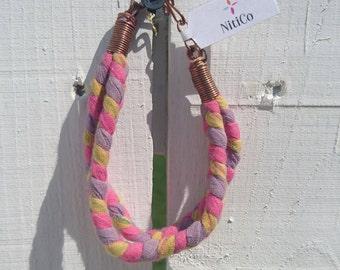 Braided Sari Bracelet No. 1
