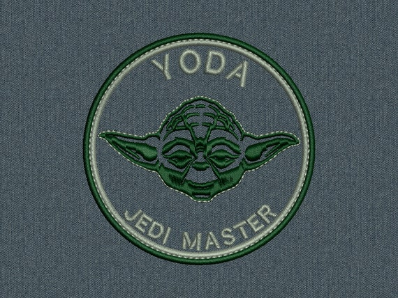 YODA Patch - Star Wars - Machine embroidery design - for instant download
