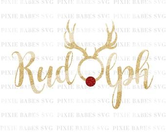 Rudolph SVG, Rudolph the Red Nose Reindeer svg, Reindeer Holiday SVG, Christmas svg, Santa svg, Cricut svg, Silhouette svg, SVG Cutting File