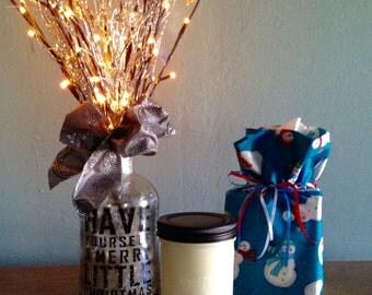 Christmas Tissue Box Cover, Tissue Box Cover, Tissue Box, Kleenex Box Cover, Bathroom Decor, Homemade, Bathroom Accessories, Office Decor