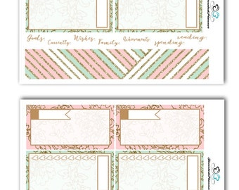 Minted Floral Notes Page Kit Planner Stickers