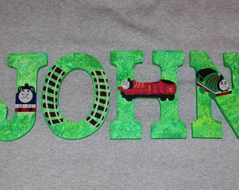 Thomas the Train Letters - Handpainted Custom Made -Kids Room Decor