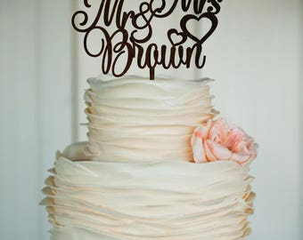mr and mrs name wedding cake topper wooden cake topper natural topper rustic personalized cake topper name cake topper custom cake topper