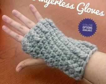 Fingerless Gloves - Solid/Bulky Gloves/Winter Gloves