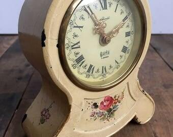 Vintage Music Alarm Clock.Shabby Chic.German