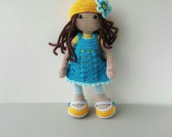 Doll Crochet Amigurumi Doll Soft Toy Birthday gift for girl