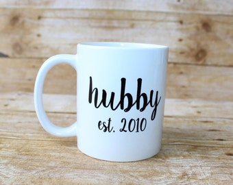 HUBBY// Coffee Mug//Personalized Coffee Mug//Gifts for Friends//Wedding Gift//Gifts for Him//Wedding Shower Gift//Newly Married//Newlyweds