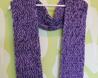 loom knitted scarf, blue lavender scarf, evening scarf, sparkled blue purple scarf, Luxurious scarf, Gift to her, Christmas gift, Handmade