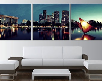 Los Angeles Wall Art los angeles canvas print wall art set los angeles skyline los