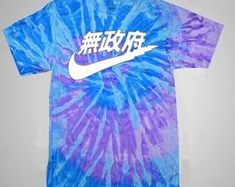 Anarchy Nike Inspired Tie-dye T Shirt - Nike Japan Tie Dye Shirt