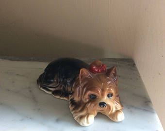 Yorkshire terrier porcelain figurine