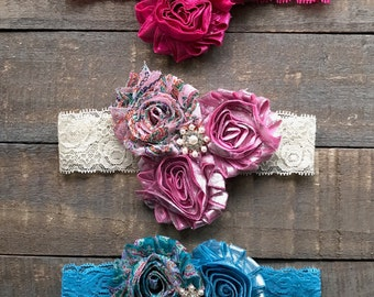 Boutique Shabby Chic Jewel Headband | The Stella Headband