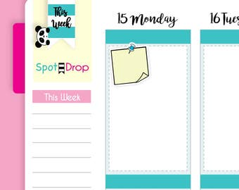 Post it Note Planner Stickers, Reminder Stickers, Kawaii Stickers