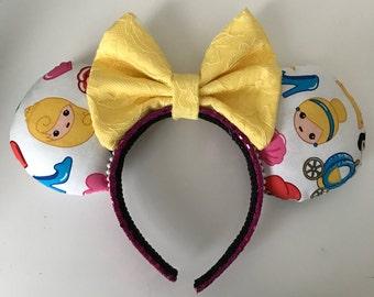 Disney Inspired Princess Emoji Minnie/Mickey Mouse Ears