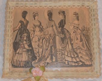 Vintage fashion print