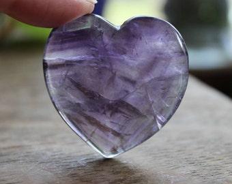 Purple Fluorite Heart