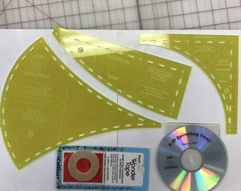SALE - 3D Spinning Fans Basic Design Template Set - 3*6*9 Design System Template Set #2 by Sew Inspired - 50% off