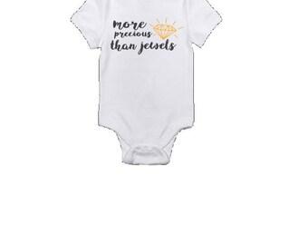 More precious than jewels, baby onesie, vinyl printed, diamond, kids, girls, body suit, cute,