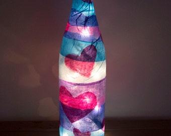 Glowing Hearts Wine Bottle Light