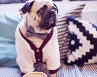 Dog sweater, dog coat, dog faux wool sweater, french bulldog jacket