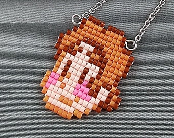 Steven Universe Necklace - Crystal Gems Necklace Chibi Necklace Cartoon Necklace 8bit Jewelry Steven Necklace Geeky Necklace Seed beads