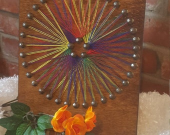 Colored Wheel Wall Hanging
