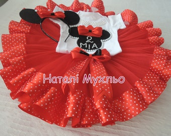 Minnie Mouse Tutu Set Red Minnie Mouse Birthday Outfit 2 Minnie Mouse Birthday Tutu Outfit Minnie Mouse 1st Birthday Tutu Outfit Baby Tutu
