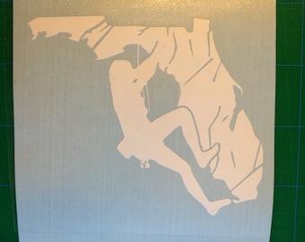 Florida Rock Climbing Sticker