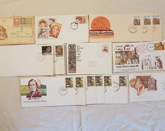 1980s First Day Covers - Mixed Lot x 17 items