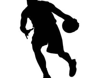 Vinyl Basketball Player Decal, Basketball Player Sticker