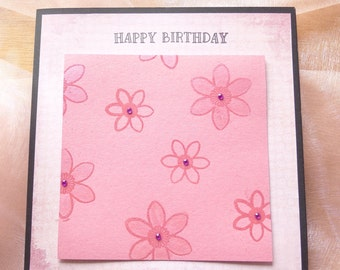 Birthday card - Bloomin Pink