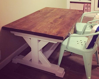 Kids Childrens Farmhouse Table // Play Table // Playroom // Dining // Knotty Alder