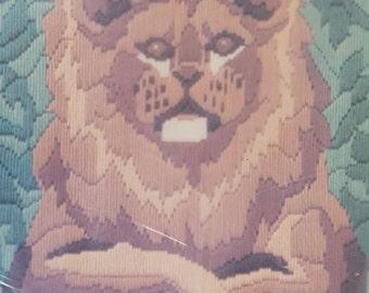 """Quick Stitch Bernat Needlepoint Kit Simba Lion 14"""" x 18"""" Long Stitch"""